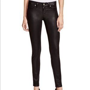 Paige Verdugo Coated Jeans In Black Silk